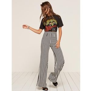NWT Reformation 'Sorrenti' striped pants